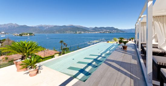 Swimming Pool produced by Preformati Italia and placed in Stresa