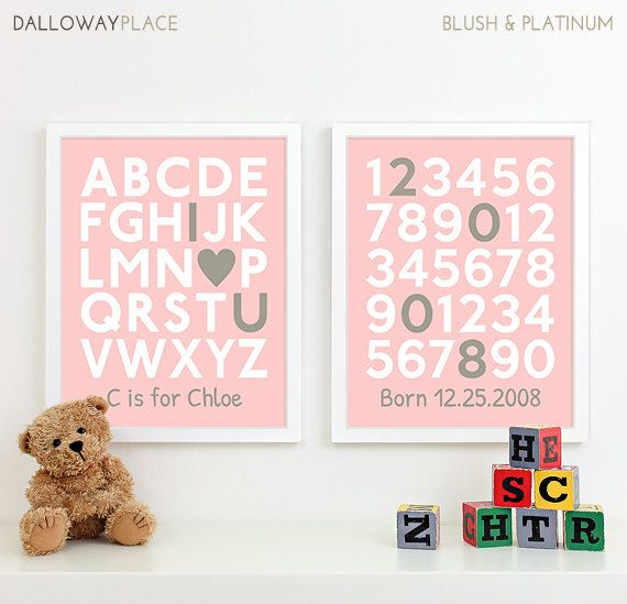 Want this for Io's room!  Personalized New Baby Girl Gift for Baby Girl by DallowayPlace, $40.00