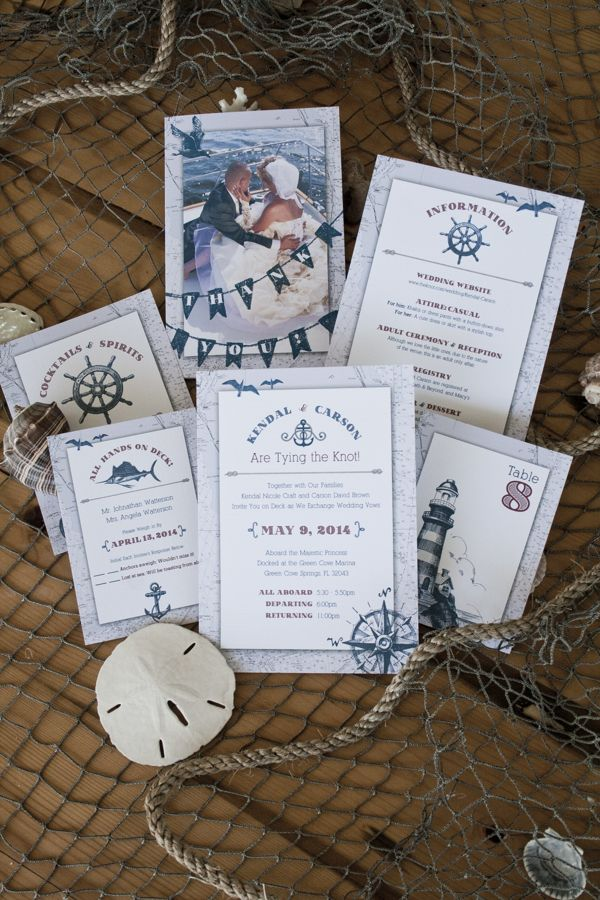 tie the knot wedding invitations etsy%0A Nautical wedding invitation set with invite  RSVP card  information card   table number