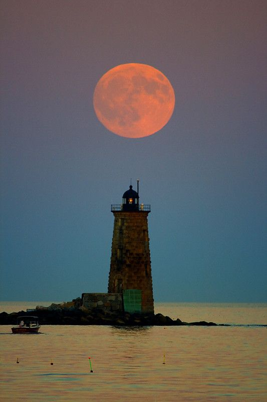 """Whalback Lighthouse"" off the waters of Maine"