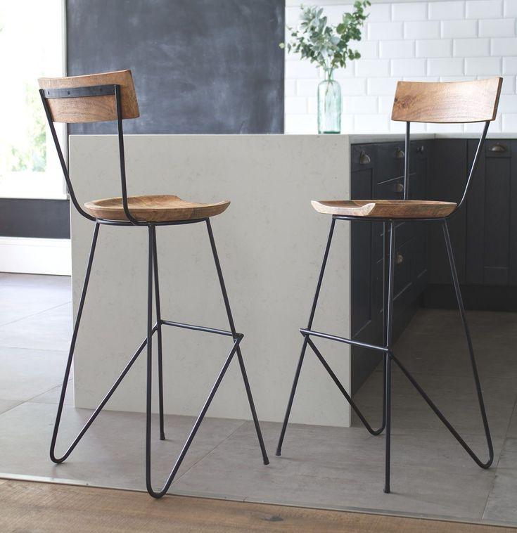 Stoker Barhocker Mit Ruckenlehne Vaunt Design In 2020 Designer Bar Stools Industrial Bar Stools Bar Stools With Backs