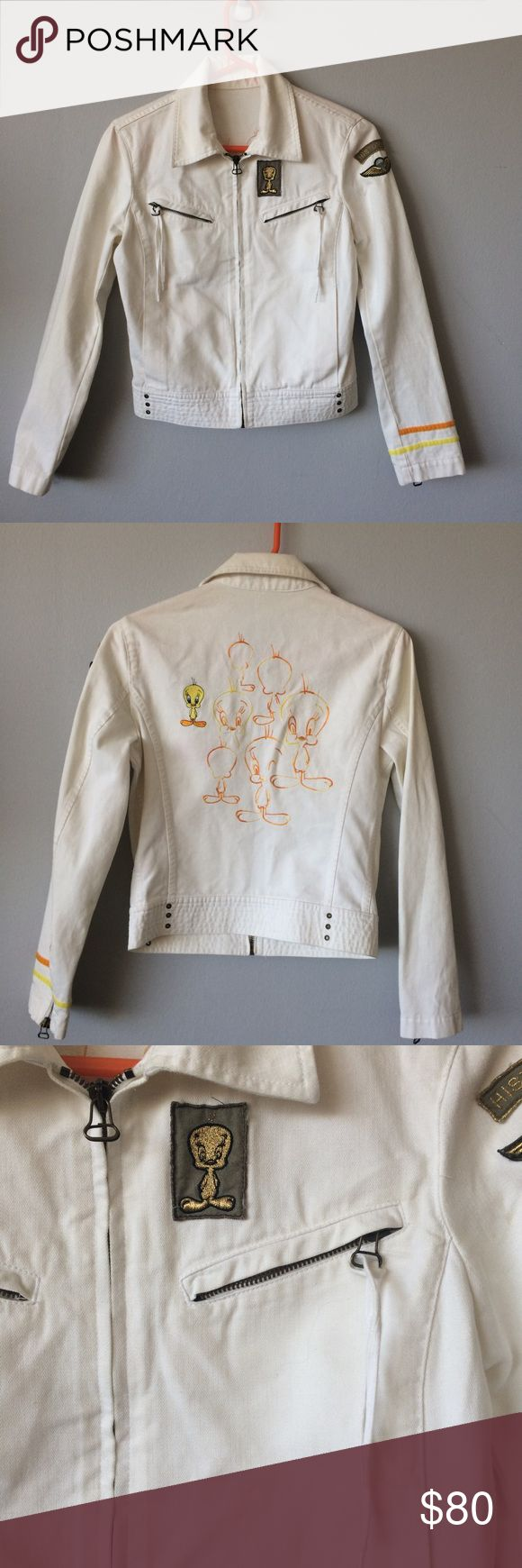 Iceberg History tweety bird White Jean Woman Jack 💝This item is in excellent condition. You might mistake it for brand new. 💝All items come from a pet and smoke free home. I ship within one business day of receiving payment. 💝Feel free to ask for more information or details pictures about the item! Iceberg Jackets & Coats Jean Jackets