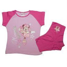 Set tricou-boxer minnie - roz/fuchsia