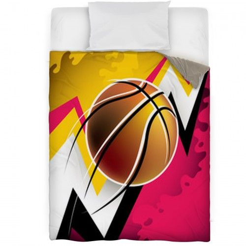 Illustrated Modern Basketball Background With Abstraction Duvet Covers 30154340
