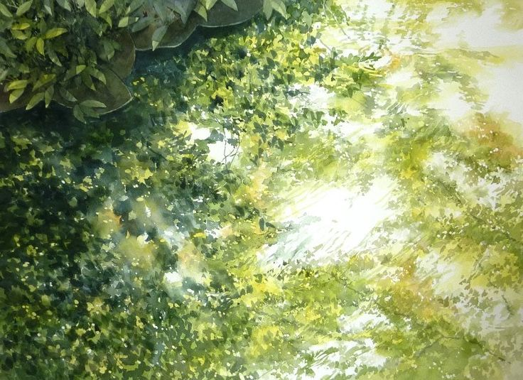 Abe Toshiyuki  Watercolor on Waterford, 30×42cm, 2013
