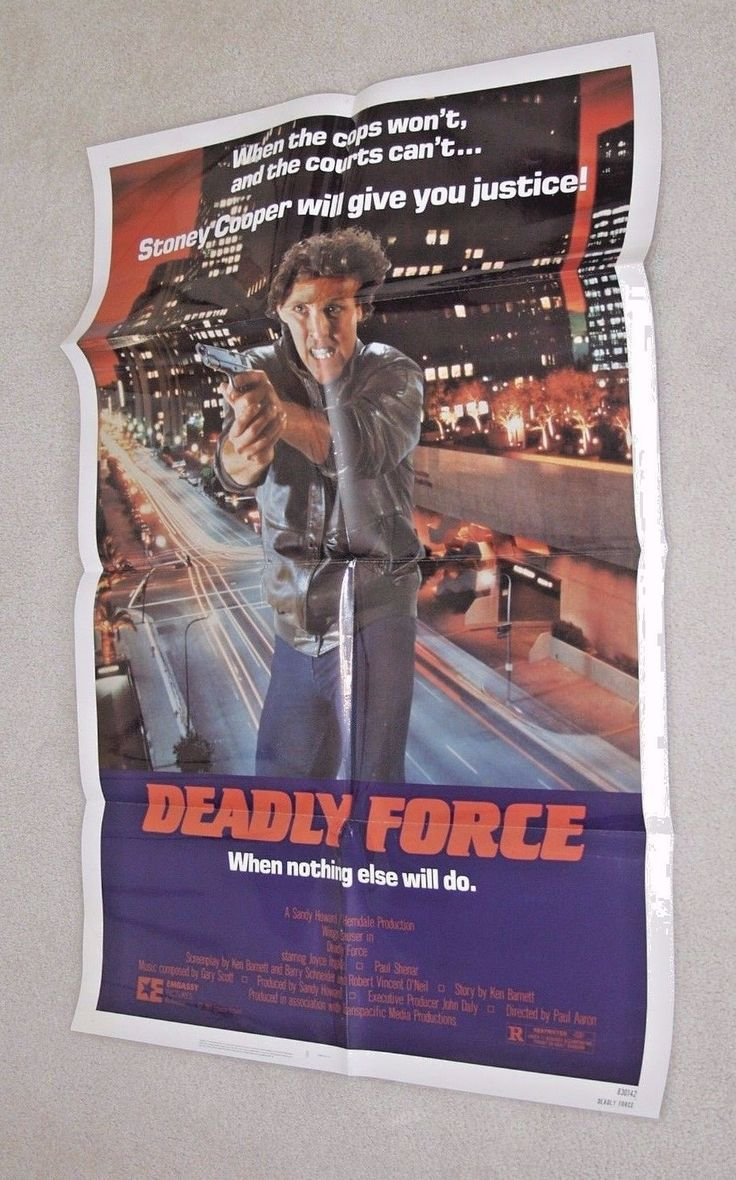DEADLY FORCE Wings Hauser - Joyce Ingalls - Paul Shenar - 1983 One Sheet | eBay