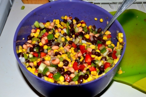 Texas Caviar..Boil together 1 pkg chill or taco mix;1/2 c sugar;1/2c ...