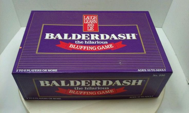 Balderdash board game from 1984.  We played this when our family got together.  It was always a blast.