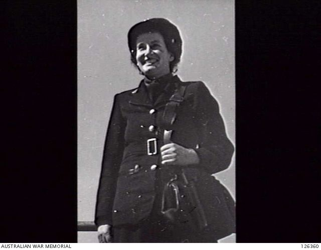 No 3707 Conductress E Chaplin, one of the first eight women employed by the Melbourne & Metropolitan Tramways Board. She began service in September 1941. Photograph courtesy Australian War Memorial.