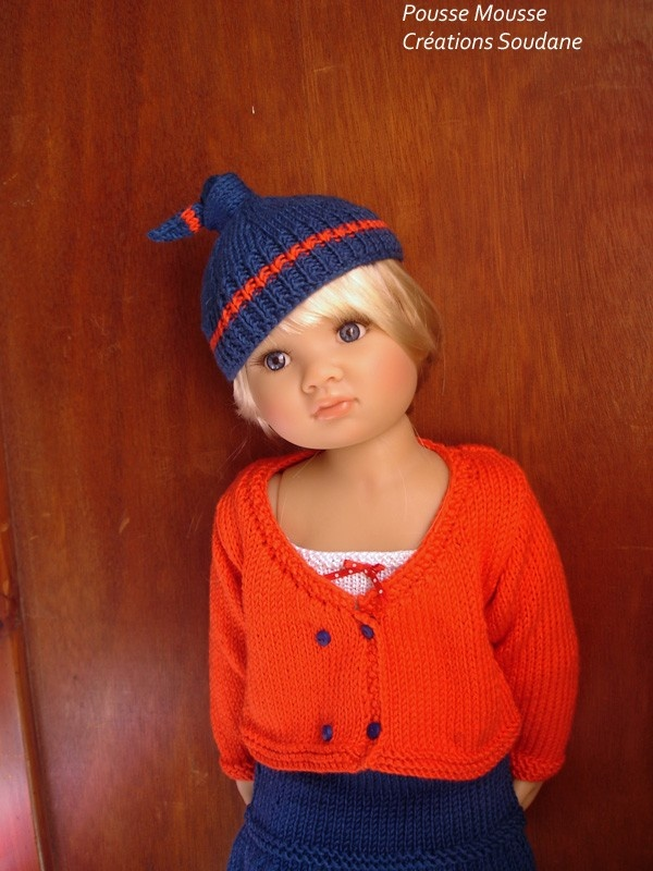 "30. English and French PDF KNITTING PATTERN (2 are available) Kid'z'n'cats american girl dolls 18 "". $11.00, via Etsy."