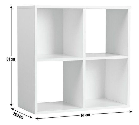 Buy Argos Home Squares 4 Cube Storage Unit White Bookcases And Shelving Argos 4 Cube Storage Unit Cube Storage Cube Storage Unit