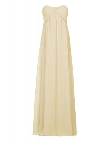 engagement shoot Cream Ruched Maxi Dress | Glamorous UK $57