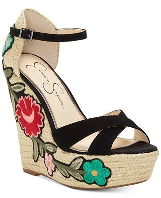 34693442bd2 Shop Jessica Simpson Apella Patch Wedge Sandals online at Macys.com.  Vibrant floral patches add a pop of bold color to the retro-inspired  platform heel ...