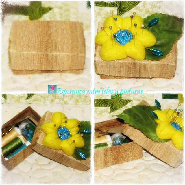 Flor amarilla en fieltro