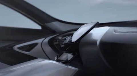 The Foldable Steering Wheel seems to be right out of a Science Fiction Movie