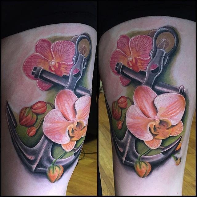 Tatouage Poignet Fleurs D Orchidee Idee D Image De Fleur