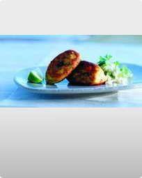 Fiskefrikadeller med chili og lime