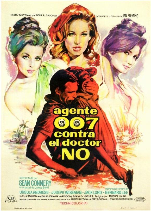 Dr. No (1962) - Spanish One Sheet  (Macario Gomez)