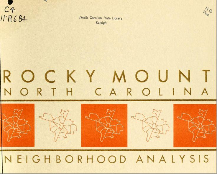 10 best jones county nc images on pinterest north carolina neighborhood analysis rocky mount north carolina 1962 available online through the north publicscrutiny Gallery