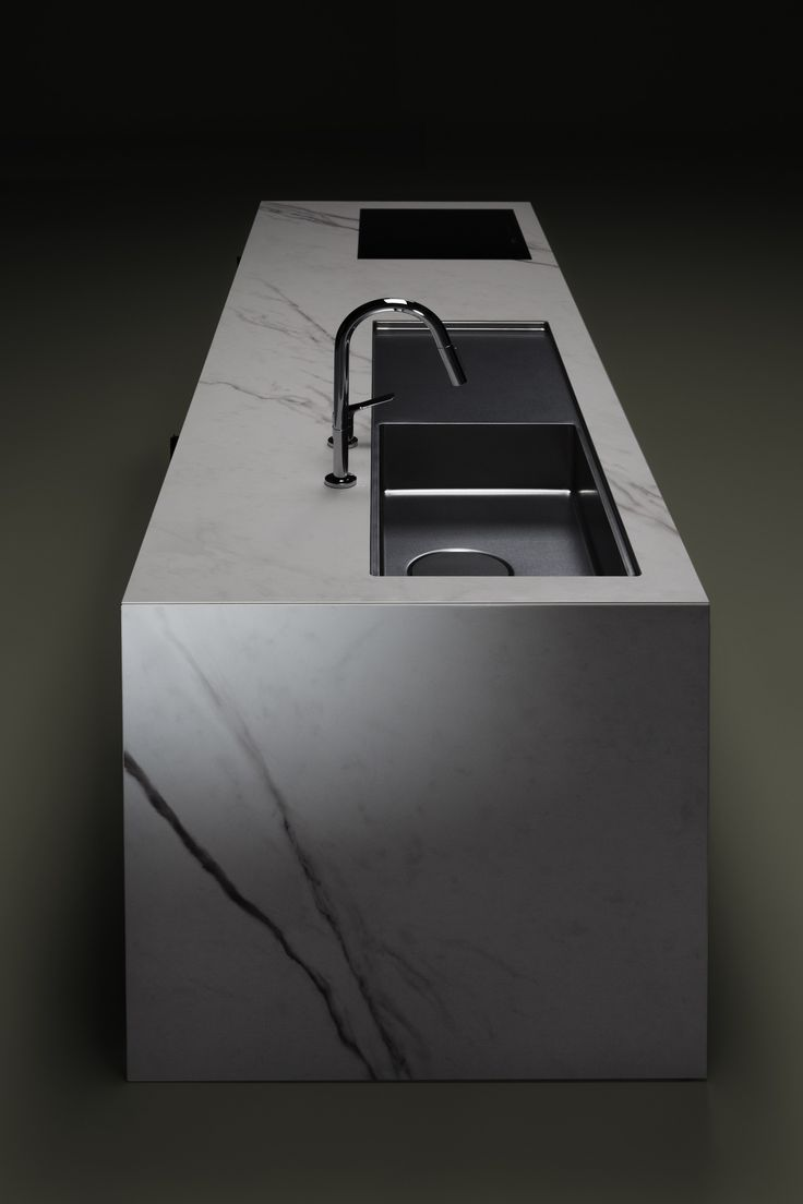 Fitted kitchen with island KANADE - Sanwa Company