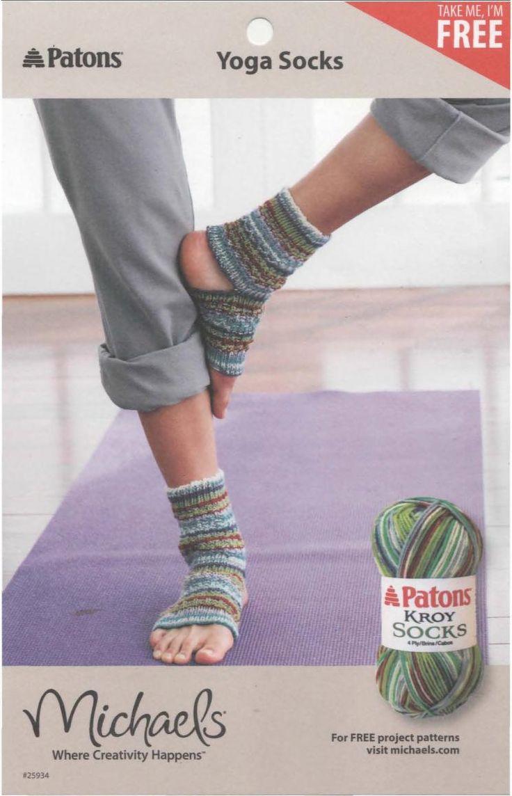 Craftdrawer Crafts: Knit a Pair of Yoga Socks - Free Knitting Pattern