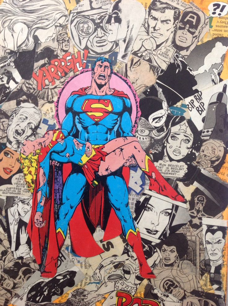 A personal favourite from my Etsy shop https://www.etsy.com/listing/240717505/superman-canvas-art-marvel-mixed-media