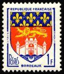 Armoiries de Bordeaux Armoiries des villes de France (Troisième série) - Timbre de 1958