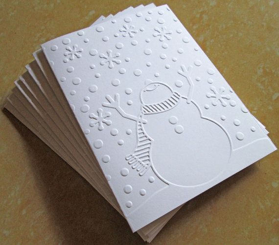 Hey, I found this really awesome Etsy listing at https://www.etsy.com/listing/203969383/snowman-christmas-cards-embossed
