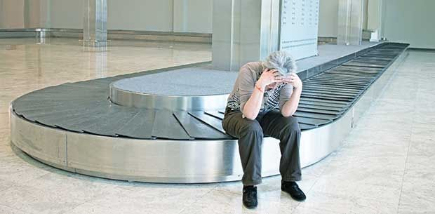 When the airline loses your luggage.