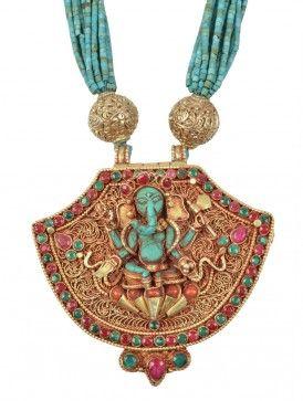 Ganesha Turquoise Necklace