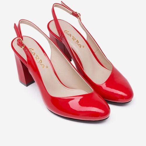 Pantofi rosii din piele naturala Eugen