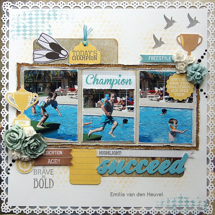 """<p>Hello Kaisercraft fans! Its Emmy with you, with a layout featuring Kaisercraft Game On collection. I started with Kaisercard Coconut Weave cardstock, which I altered using Tim Holtz Bubble Layering Stencil and Tim Holtz Mini Distress Ink Pads – Scattered Straw. Then I added the blue pattern with Kaisercraft Diamonds <a href="""" http://www.merlyimpressions.co.uk/blog/project-portfolio/scrapbooking/succeed-with-game-on/ """"> …click to read more</a></p>"""
