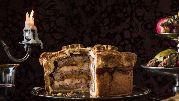 For a real taste of Joffrey's gamey pigeon pie, use squab instead of chicken. Have a sword handy for slicing into it! Also check out <a href=