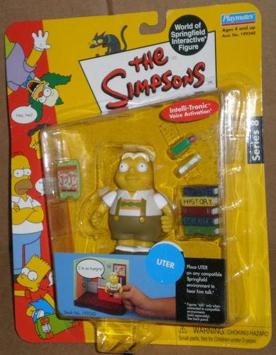The Simpsons Uter Zorker action figure Series 8 German kid Playmates Sealed