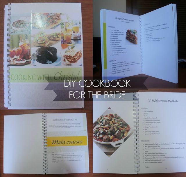 DIY Cookbook Gift for the Bride