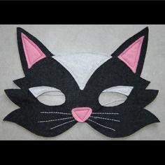 Masque en feutrine : chat