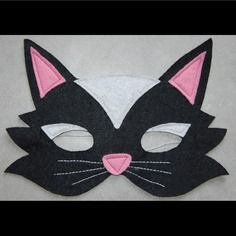 Masque en feutrine : chat