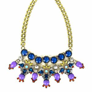 "Gold Multi Color Statement Necklace, 18.5"" - Walmart - $10"