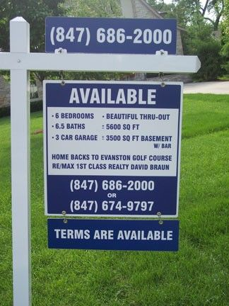 All of our Real Estate Signs are fully customizable. Choose one of our many Real Estate Sign templates or create your own from scratch. Each sign design is available as a ready to apply (RTA) decal, PVC, coroplast, and aluminum. http://www.signsnframes.com/category/3075