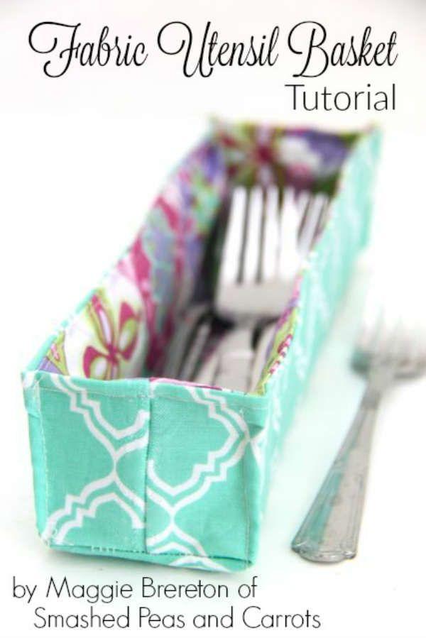 DIY : des paniers à couverts en tissu « Blog de Petit Citron Plus