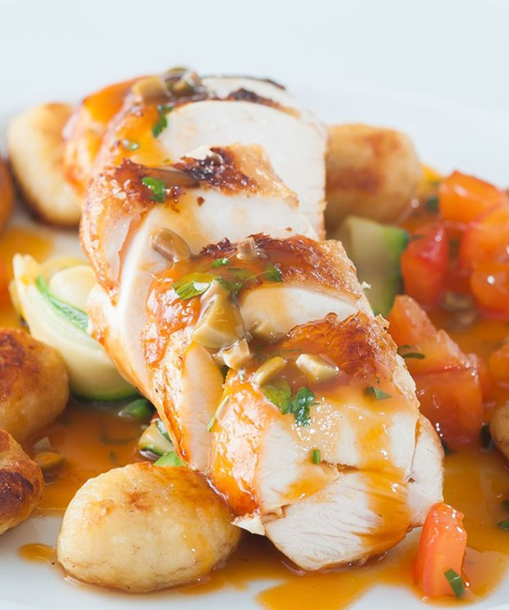 This chicken recipe by Russell Brown uses sous vide to ensure tender moist meat. Combined with the Provençal flavours of tomatoes and courgette and soft, fluffy gnocchi this dish will be a winner for a midweek meal and dinner party alike.