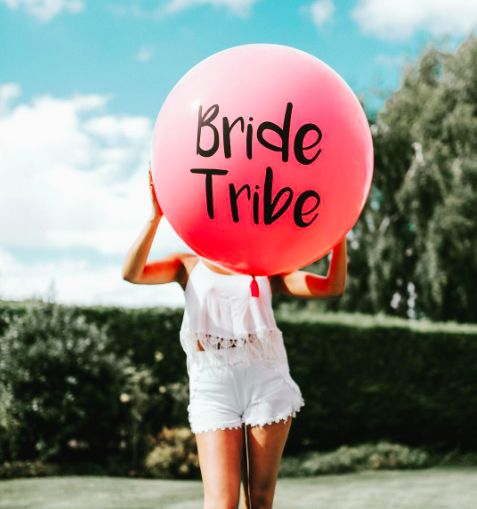Bride Tribe balloon is a cool statement accessory for your hen party celebrations