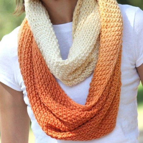 Dip-dyed infinity scarf