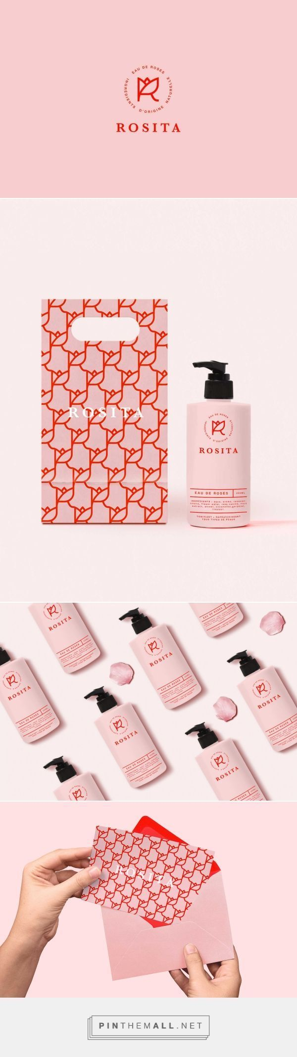 Rosita, a fictitious brand of rose water. Designed by JOAM
