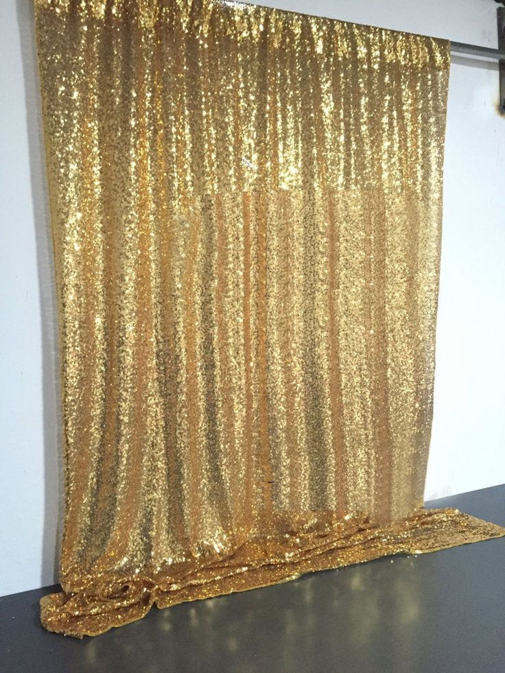 4ft x 6ft Gold Sequin Photo Backdrop Wedding Booth Photography Background Cloth | eBay