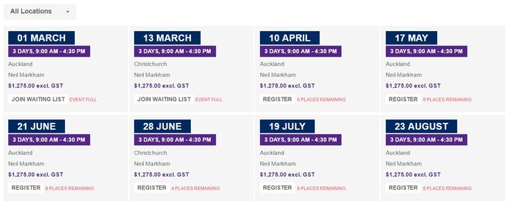 Course & event dates - http://www.cadpro.co.nz/