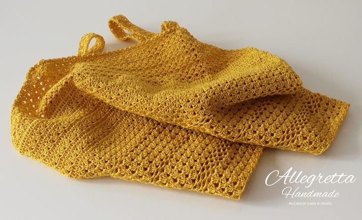Top giallo in cotone. 100% Handmade Tecnica: Uncinetto https://www.facebook.com/allegrettahandmade