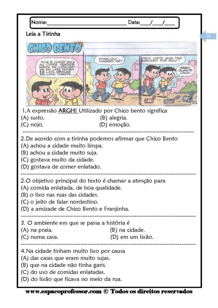 Pacote De Apostilas De Interpretacao De Textos Com 07 Cadernos Em