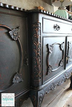 night fury milk paint buffet, painted furniture, painting
