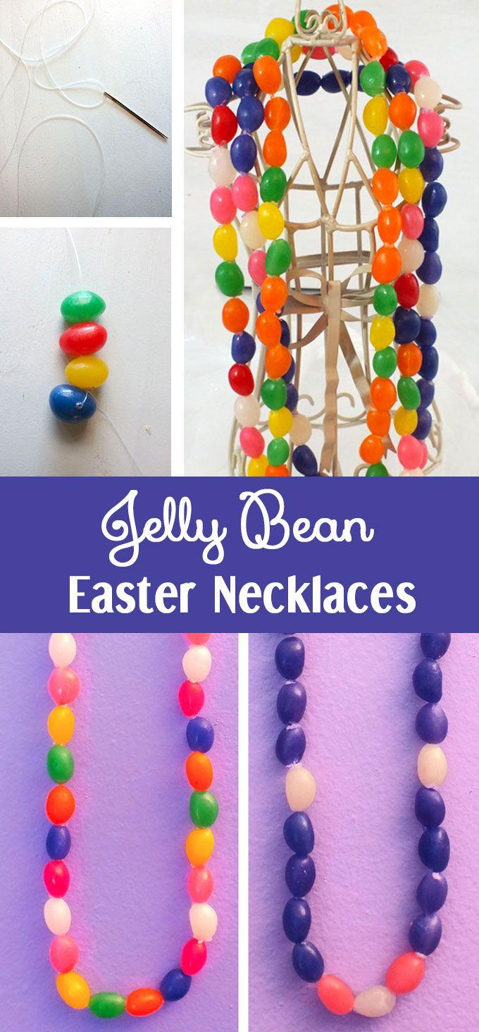 Cain and abel craft ideas - Jelly Bean Easter Necklaces Holiday Craftsholiday Ideaseaster